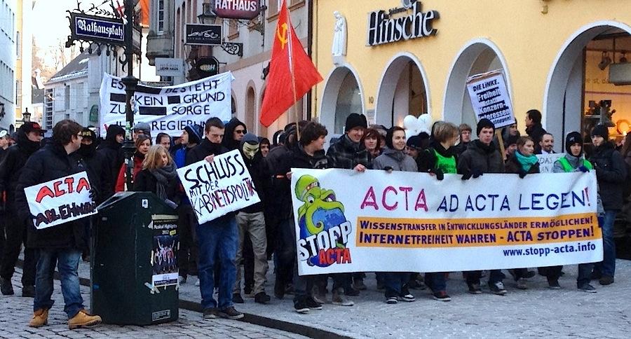 Die Freiburger ACTA-Demo.